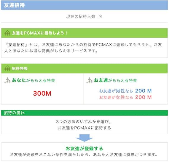 PCMAX_友達招待
