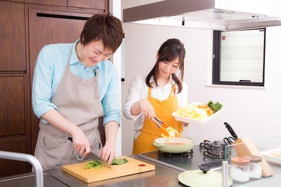 料理 共同作業 カップル フリー